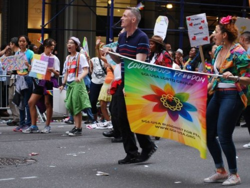 Courageous Freedom group members march during New York's Pride parade on June 28, 2015