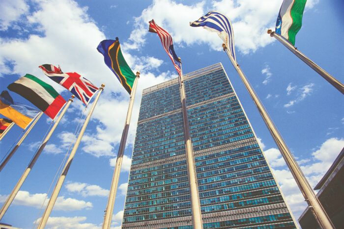 U.N. Headquarters, New York. On Oct. 24, the U.N. treaty banning nuclear weapons reached its precondition for entry into force.