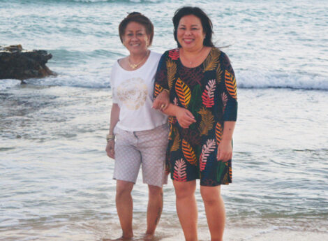 Rena develops a healthy relationship with her stepmother, Pam, through her Buddhist practice.