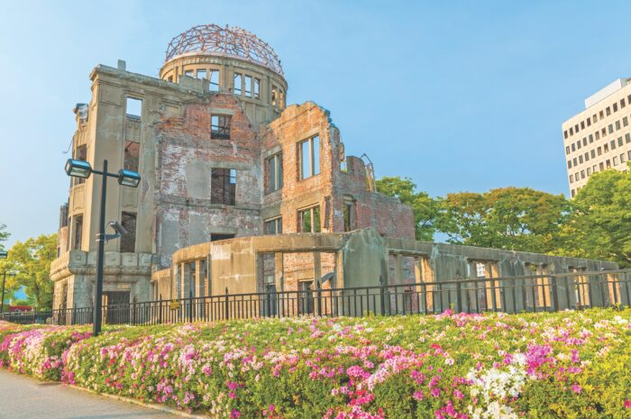 Atomic Bomb Dome memorial building in Hiroshima, Japan. NAVAPON_PLODPRONG / Getty Images