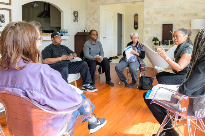 Members of Lithonia District engage in joyful discussion in Lithonia, Ga., March 2019. Photo by Anthony Wallen