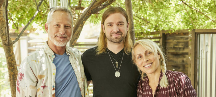Anton Troy (center) transforms a traumatic event into an opportunity for growth through his Buddhist practice and the support of his legal caregivers (l-r) Gabe and Kiki.