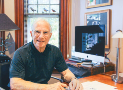 Steve Saperstein at his office.