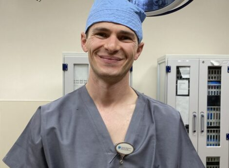 Bobby Eppsteiner gets ready for surgery in Northampton, Mass., Oct. 7, 2021.